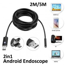 USB эндоскоп 2 метра  (Android 2 in 1)