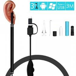 Эндоскоп 3 метра медицинский (USB, microUSB,Type C)