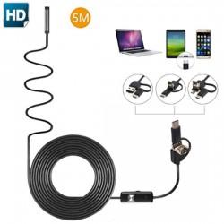 Эндоскоп 5 метров (USB, microUSB,Type C)
