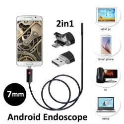 Эндоскоп 5 метров (USB, microUSB)
